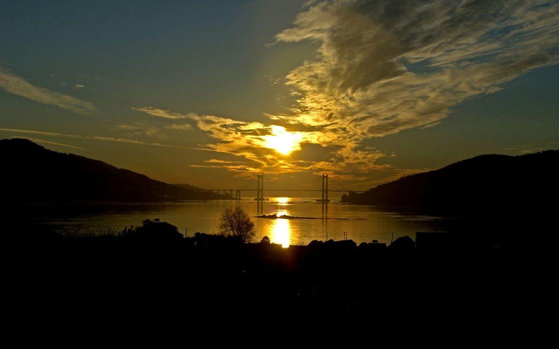 Vigo - puesta de sol