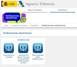 Captura notificaciones Hacienda